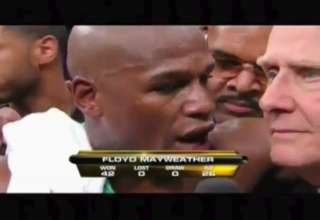 Floyd Mayweather Wins fight with cheap shot then flips on judge view on ebaumsworld.com tube online.