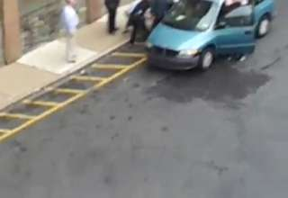 Police Arresting Naked Family In Their Van At A School view on ebaumsworld.com tube online.