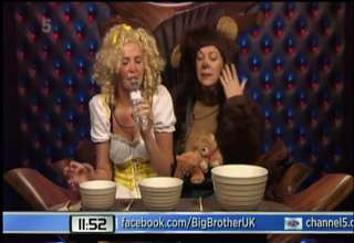 Playboy Twin Karissa Shannon Consumes Cow Urine on Game Show view on ebaumsworld.com tube online.