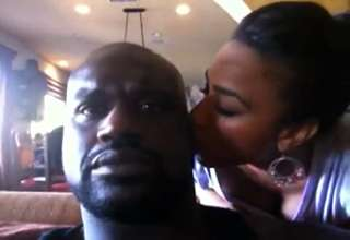 Shaq  Hoopz Kicking Back Blowing Smoke In Front Of A Baby view on ebaumsworld.com tube online.