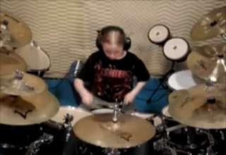 Little Kid Plays Tom Sawyer On Drums