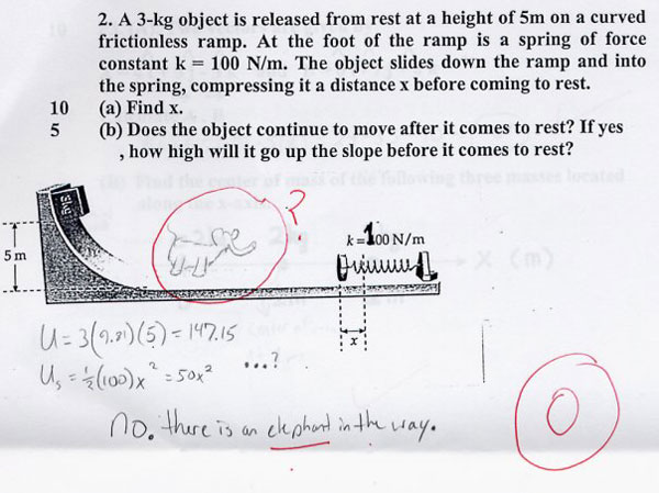 I wish I was this witty when I was in school.