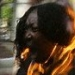 This Belgian lady doused herself in petrol then lit a match in a protest against racism.