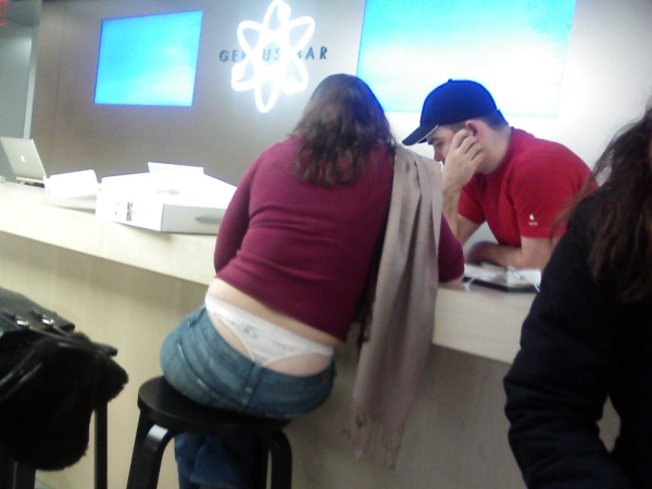 """The help desk at the new Apple Stire can fix """"almost"""" anything."""