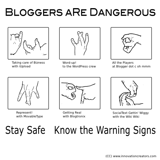 Bloggers can be very dangerous please learn these critical gang signs!