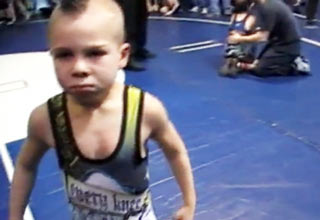 Game on, jerk face! This little pint sized badass ain't taking no crap, from anyone!
