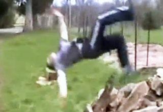 Outdoor Backflip Fail - Video | eBaum's World