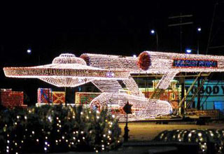 Some Light Displays That people come up with on Christmas Holiday's