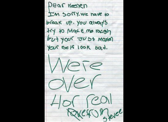 21 Funny Break Up Notes - Gallery | eBaum's World