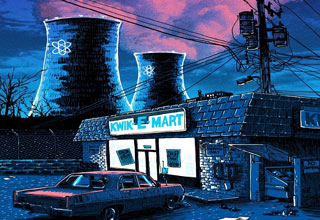 "Artist Tim Doyle has recreated iconic establishments from TV shows like ""Seinfeld,"" ""The Simpsons,"" and ""Arrested Development"" and illustrated them in a much darker tone than we are accustomed to seeing."