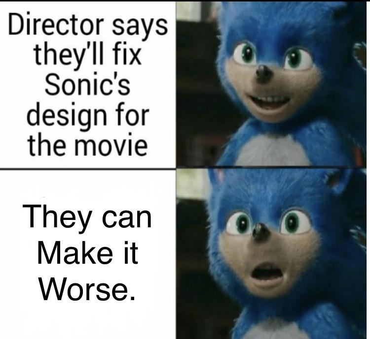The Director Of Sonic The Hedgehog Agrees To Redesign Sonic The Internet S Reactions Are Hilarious Funny Gallery