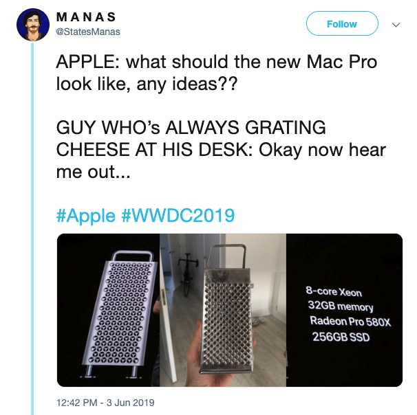 16 Memes About How The New Mac Pro Looks Like a Cheese