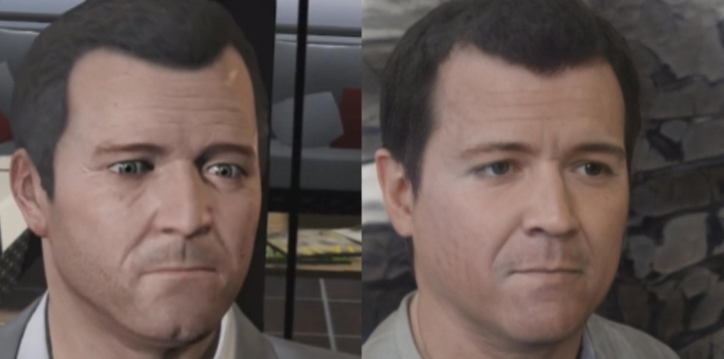 realistic video game characters - Michael (GTA V)