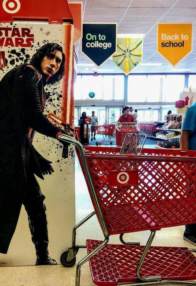 2 - Because even an emo Sith Lord pays a visit to Target from time to time.