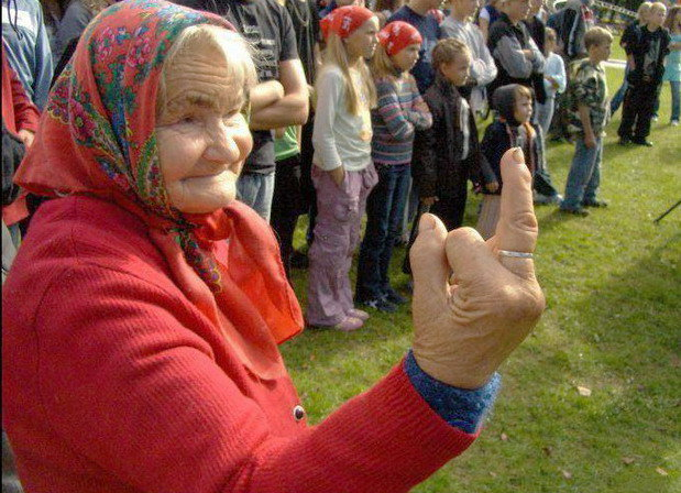 Granny Gets Banned From Future Grade School Soccer Games