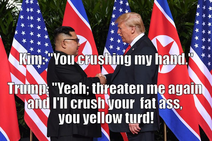 What Kim and Trump really talked about during that handshake.