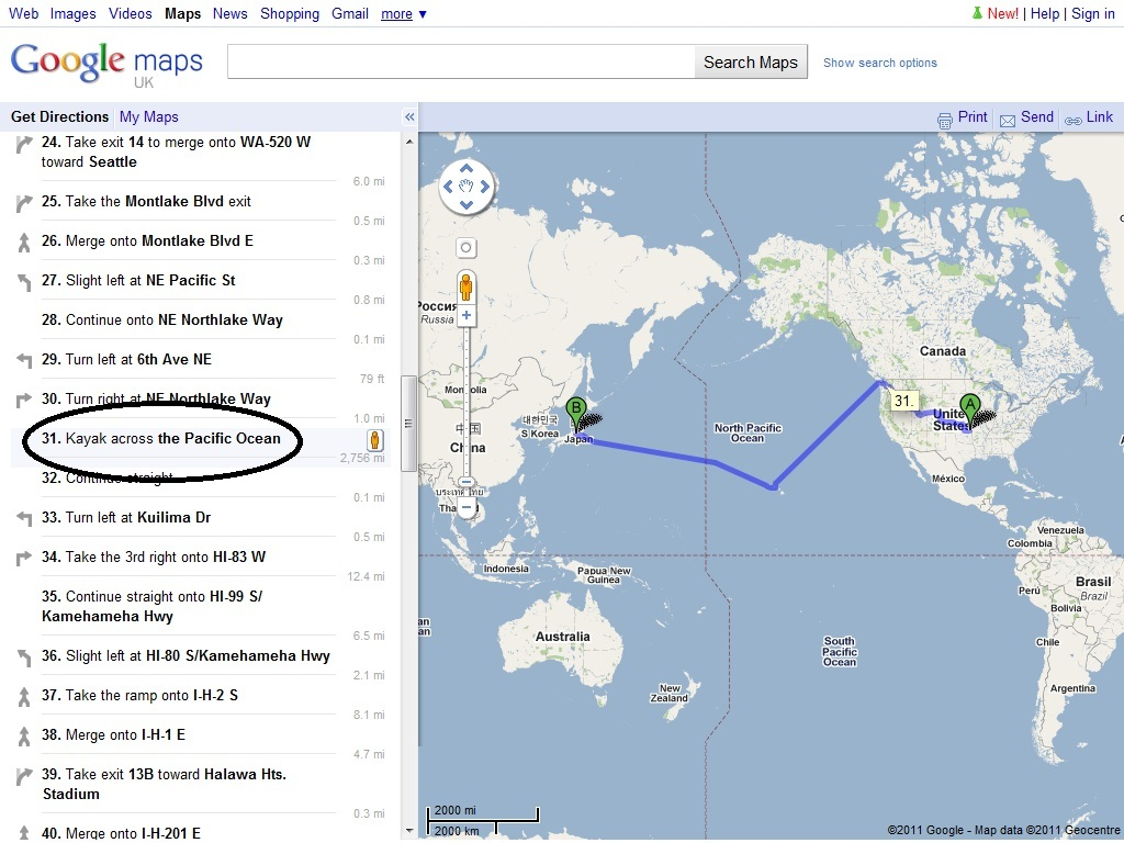 ROUTE PLANNER FAIL - Picture | eBaum's World on western pacific map, cricket map, netflix map,