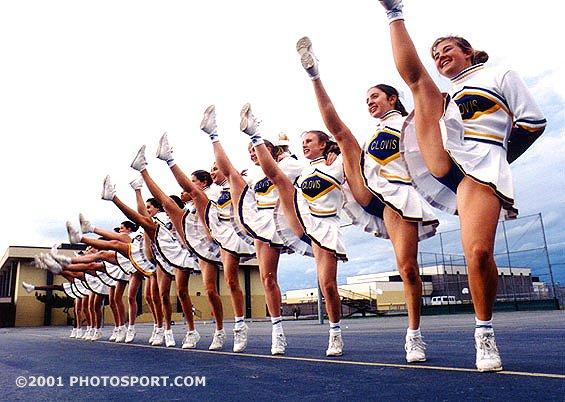 Middle school girls cheerleaders ass