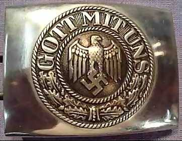 Here is another Nazi artifact showing how Hitler used religion. The German Army belt buckles said GOTT MIT UNS which means GOD WITH US. Nazi soldiers also took an oath to Hitler saying - I SWEAR BY GOD THIS HOLY OATH....TO ADOLF HITLER.... By using religion Hitler made himself seem close to god.