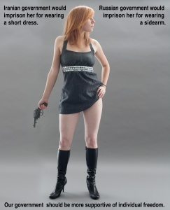 Being able to choose what you want to look like is what freedom is all about, and so is being able to defend yourself from danger! Criminals, terrorists, and tyrannical governments alike will always prefer defenseless victims.