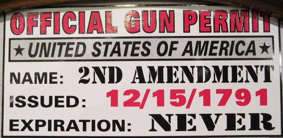 It's good to have an official gun permit when you decide to keep and bear arms.