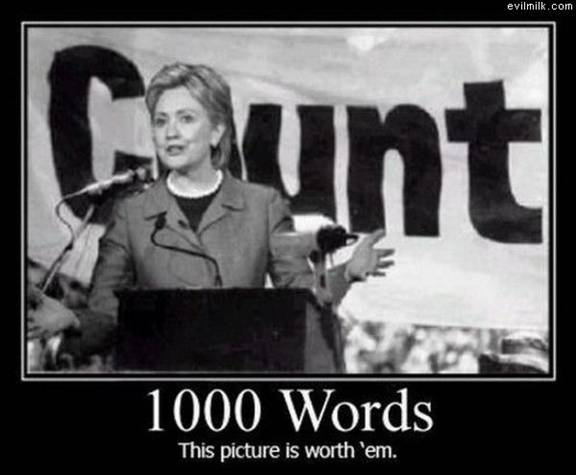 A picture is worth a thousand words. No more Bushes and Clintons!