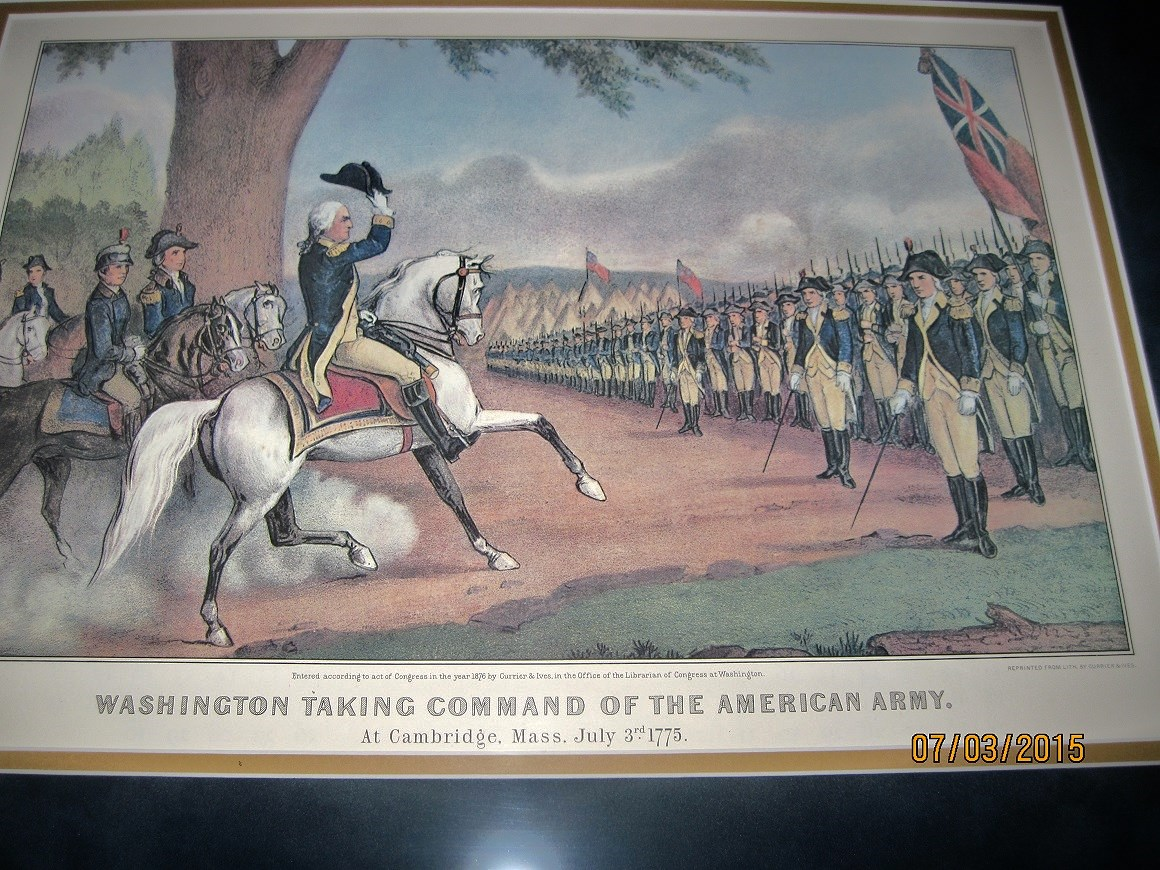 July 3, 1775, George Washington takes command of the US Army....and the rest is history!