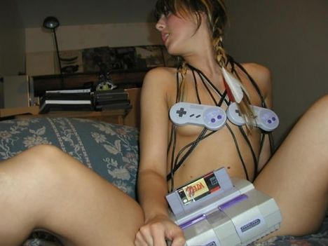 Words... super, hot naked girls playing video games