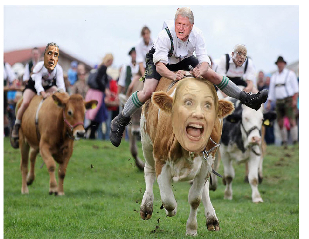 Bill is riding Hillary back to Washington!
