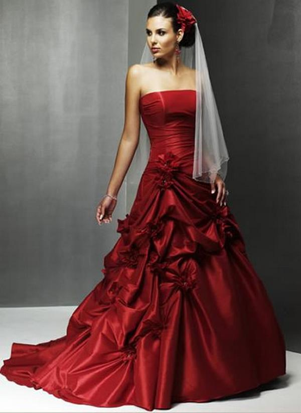 to wear - Wedding red beautiful dresses video