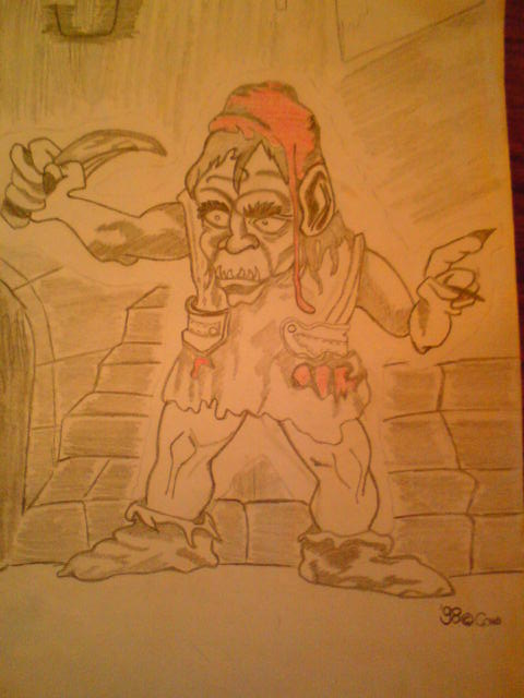 Red Cap is a creature from a book with monsters.  But this drawing I've drawn.. :D