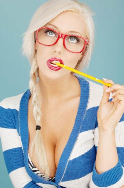 Blond Girl Fingering Herself