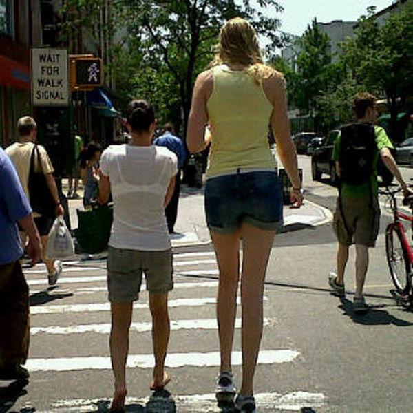 too tall girl