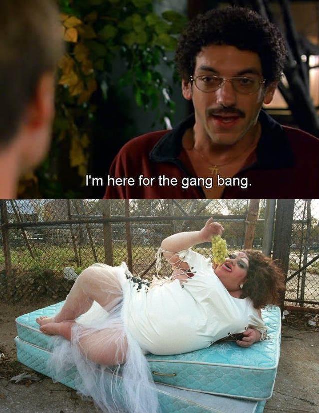 Old School gang bang