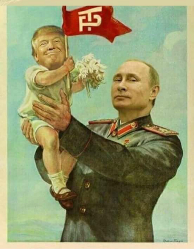 """Vitaly Tretyakov, the dean of the Moscow State University's School of Television, in response to Drumpf's sanctions """"Let's turn this into a headache for Trump. If you want us to support you in the elections, do what we say."""" Ya think Drumpf will send GRRR tweets, or send a hoooge bouquet of flowers & chocolates?"""