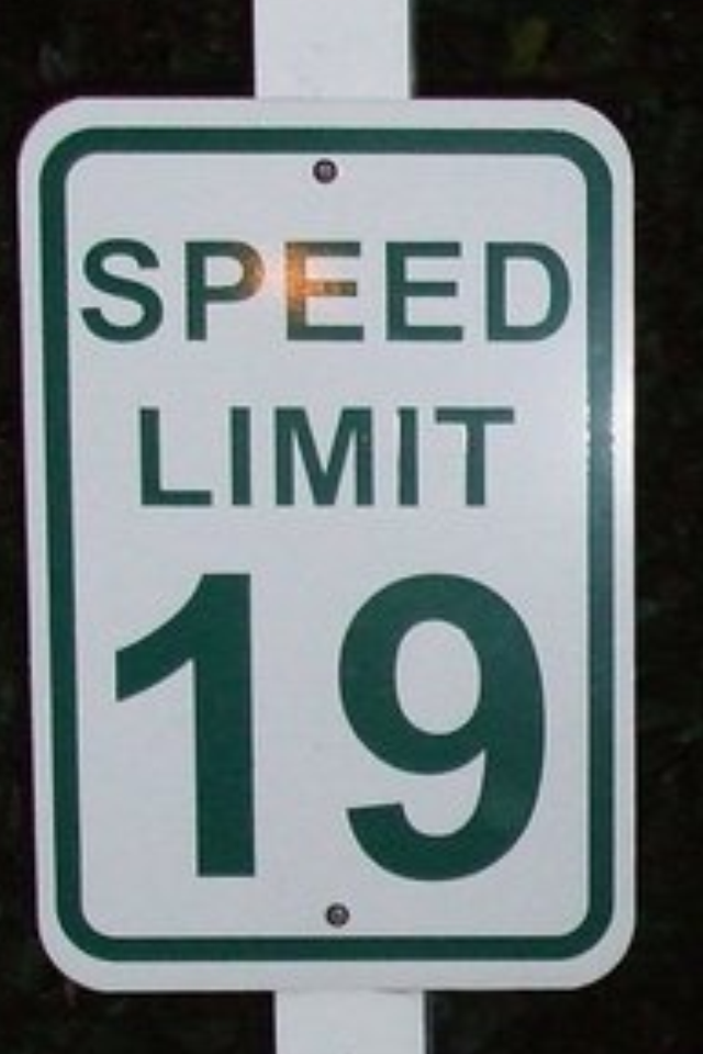 Have you ever seen a speed limit set at 19mph?