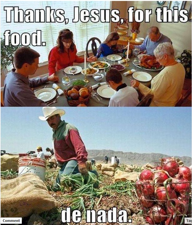 Thanks, Jesus, for this food......