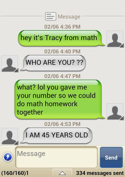 Commit wrong number texts