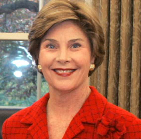 6 -  When Laura Bush was in high school, she neglected to stop at a stop sign when she was driving. She hit another car and killed its driver, Michael Dutton Douglas, who happened to be a close friend and classmate.