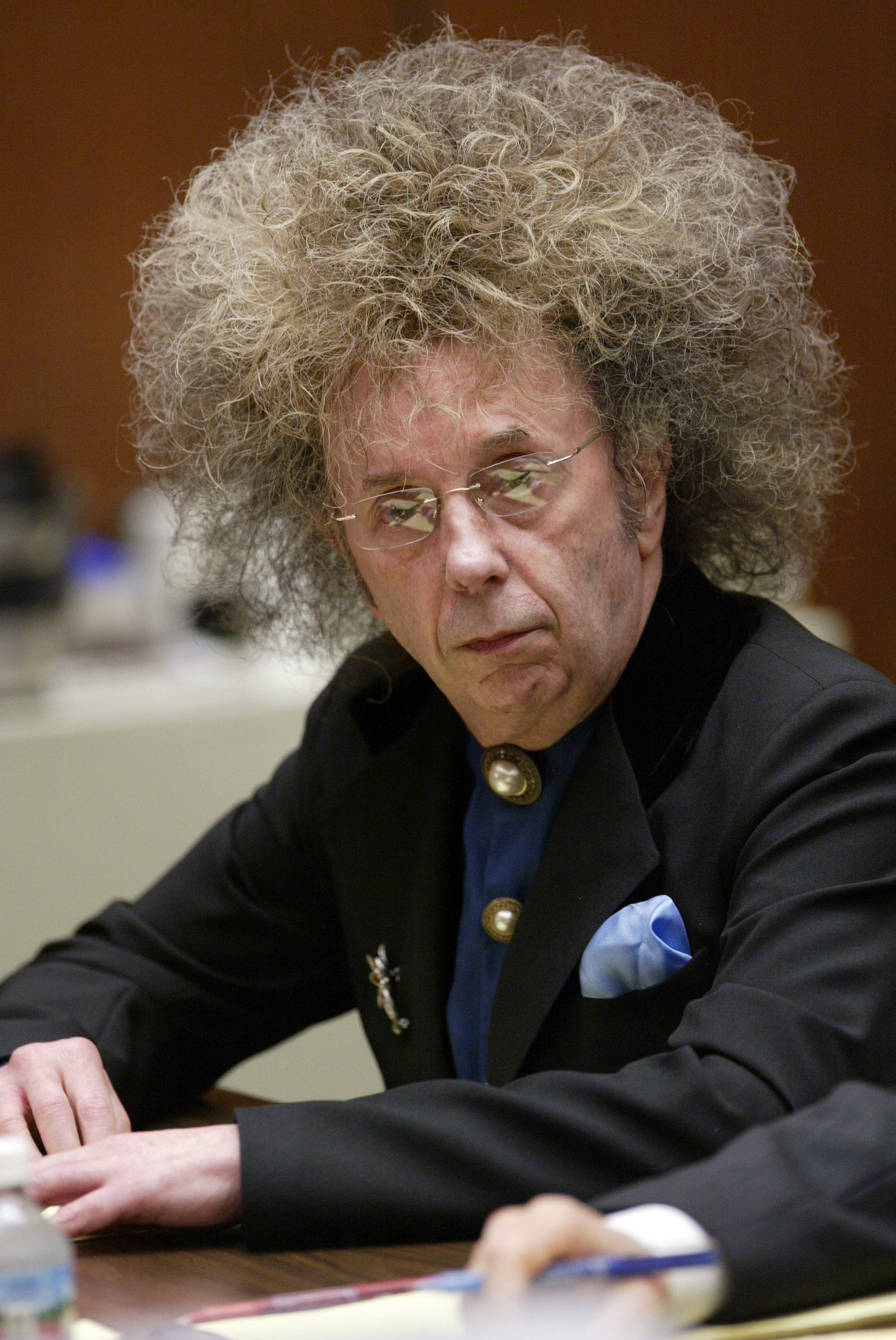 16 -  In 2003, Lana Clarkson was found dead from a gunshot wound in Phil Spector's home. He was charged with the murder, and in 2009, Spector was found guilty and sentenced 19 years to life in prison.
