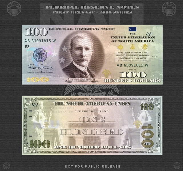 10 Currency For The North American Union Nau