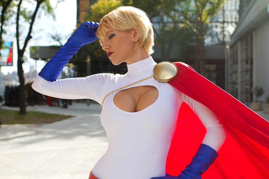 Power Girl Cosplay Topless