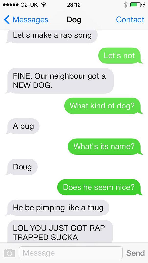 If Man's Best Friend Could Text - Gallery | eBaum's World