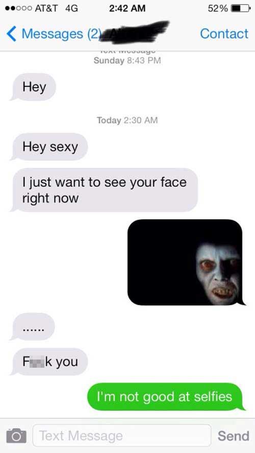 awkward face text