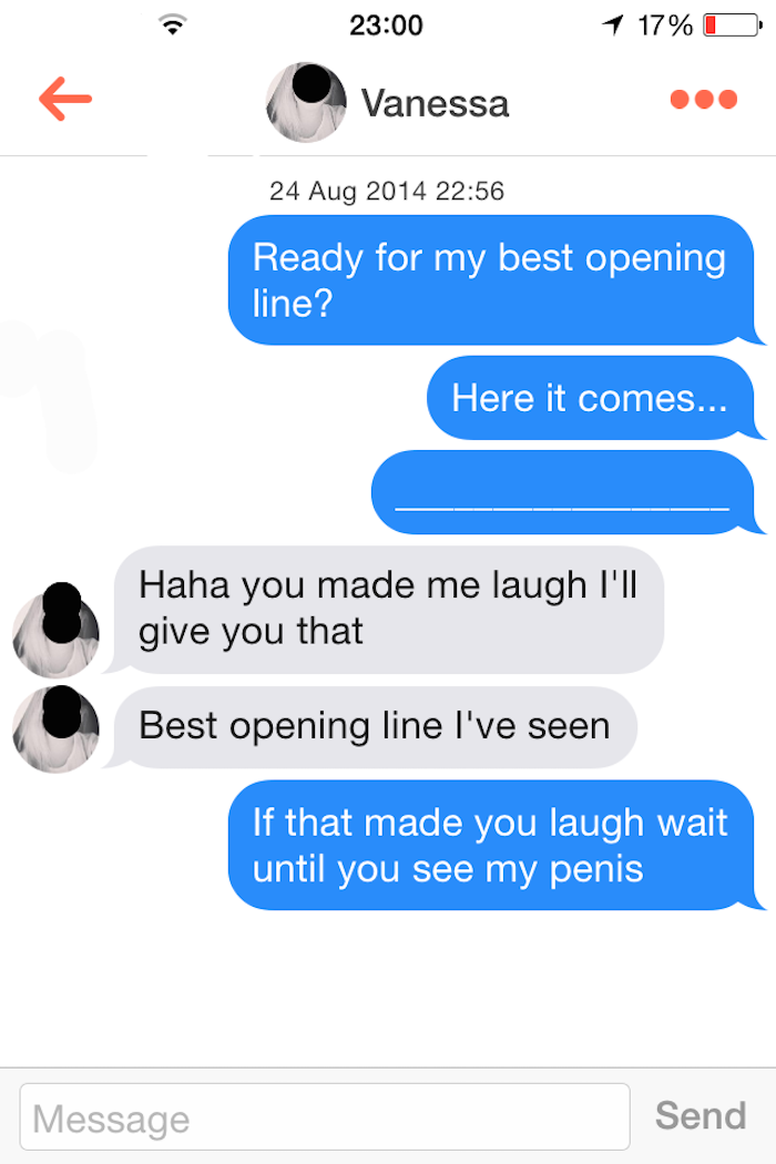 Pickup Lines And Rejection On Tinder - Funny Gallery   eBaum's World