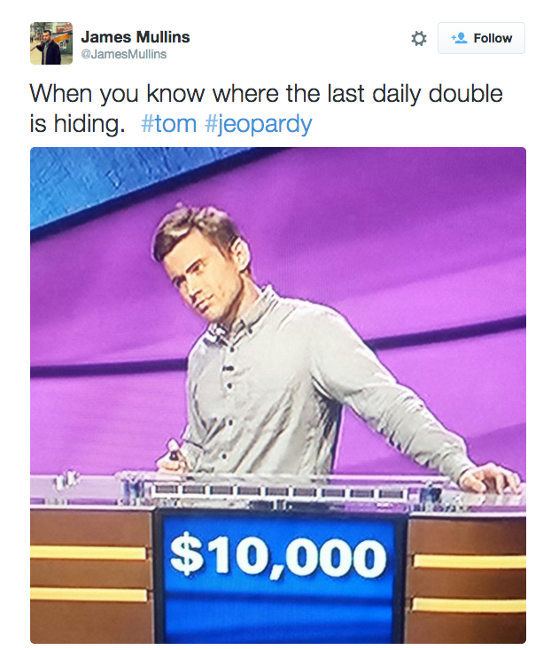 Jeopardy Grid: The Internet Is Infatuated With Jeopardy Contestant Tom