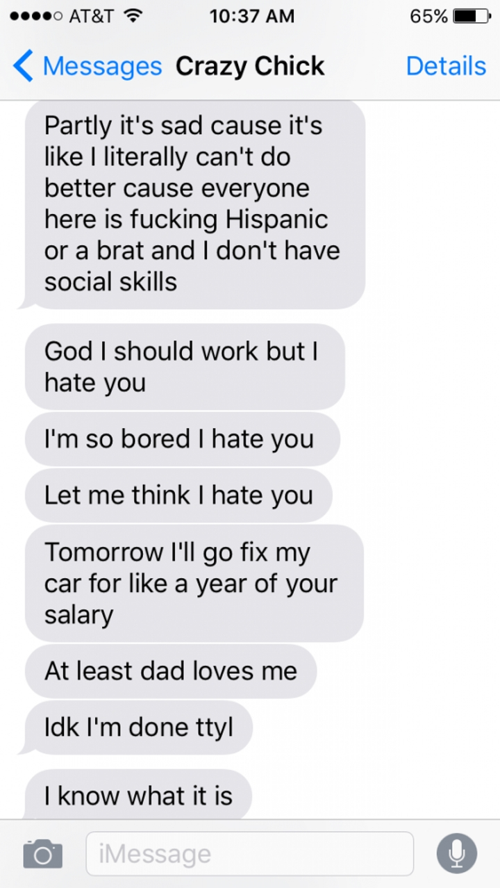 Crazy Ex-Girlfriend Goes On The Most Insane Text Rant