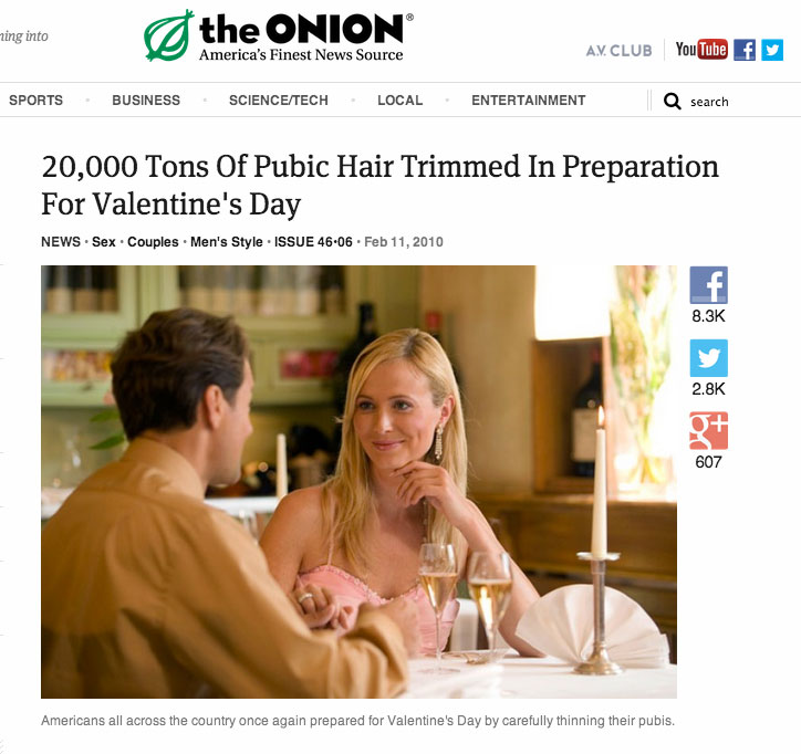 Funniest dating headlines of all time