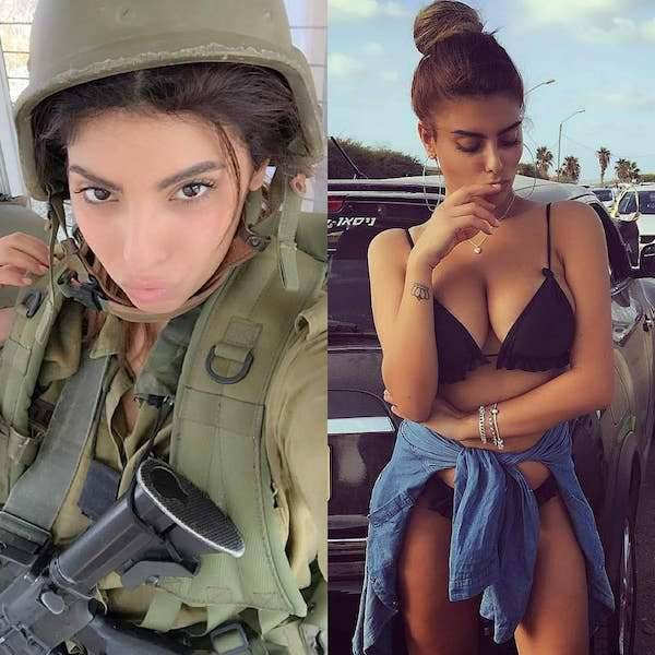 Military girls looking sexy in uniform