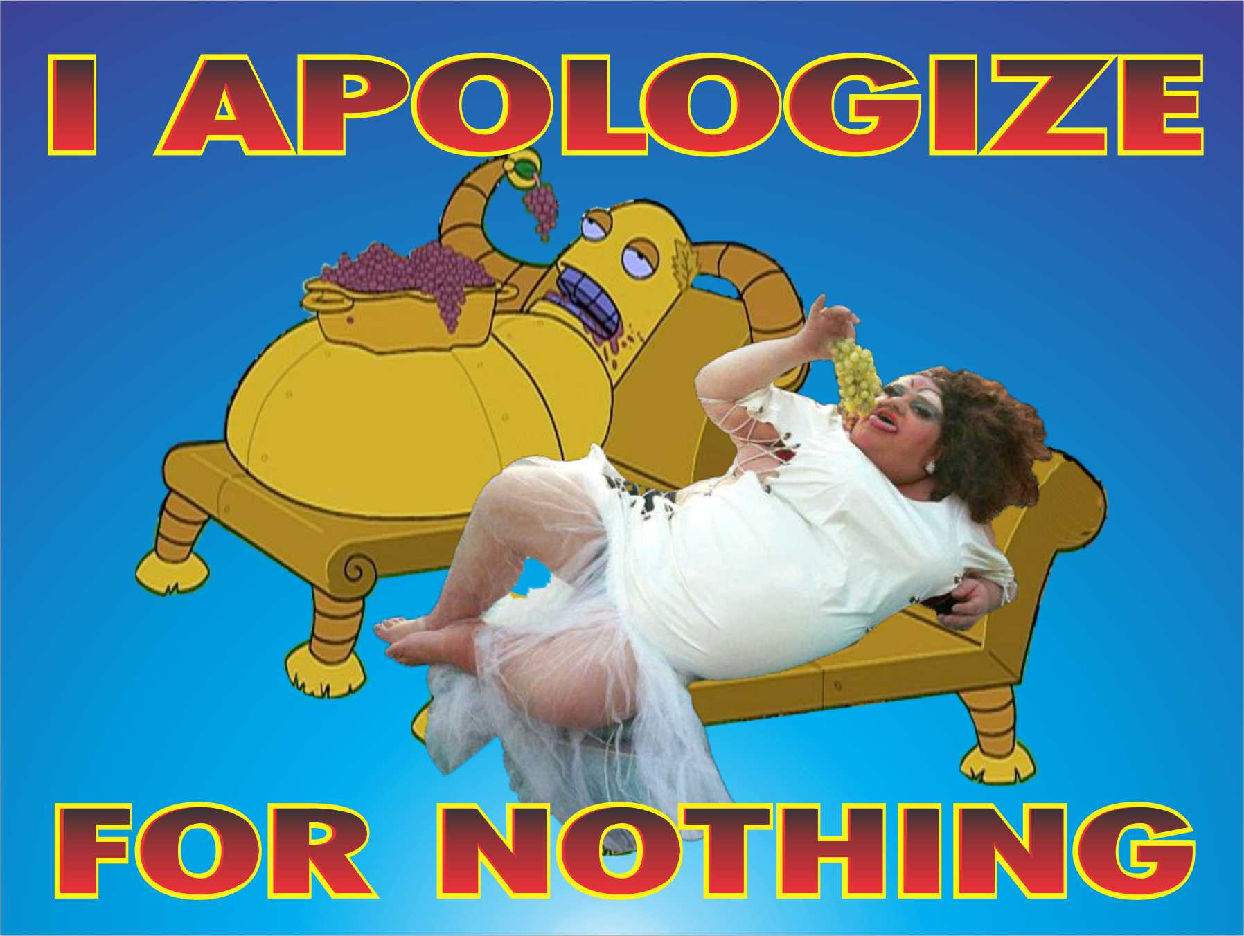 I Apologize for Nothing
